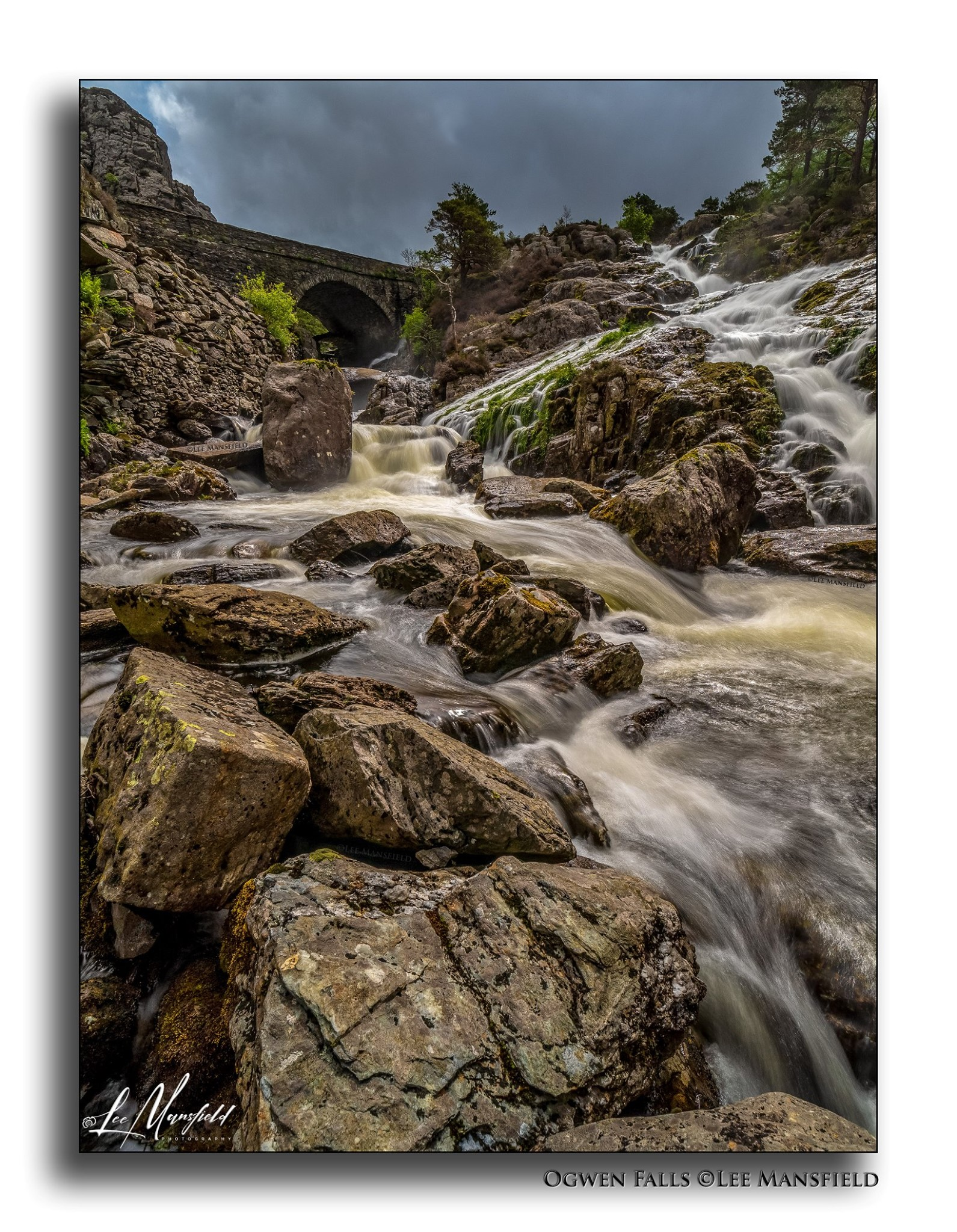 Ogwen Falls (portrait version)
