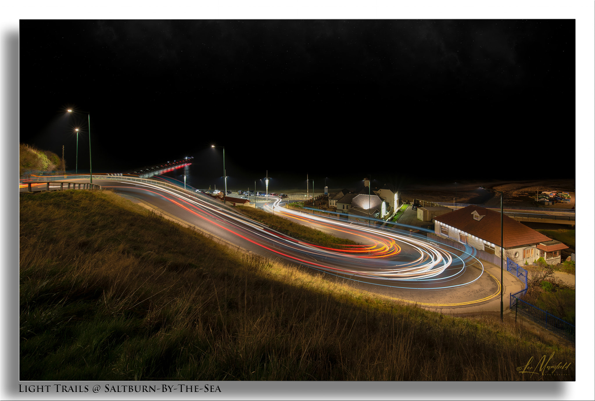 Light-trails - Saltburn-by-the-Sea