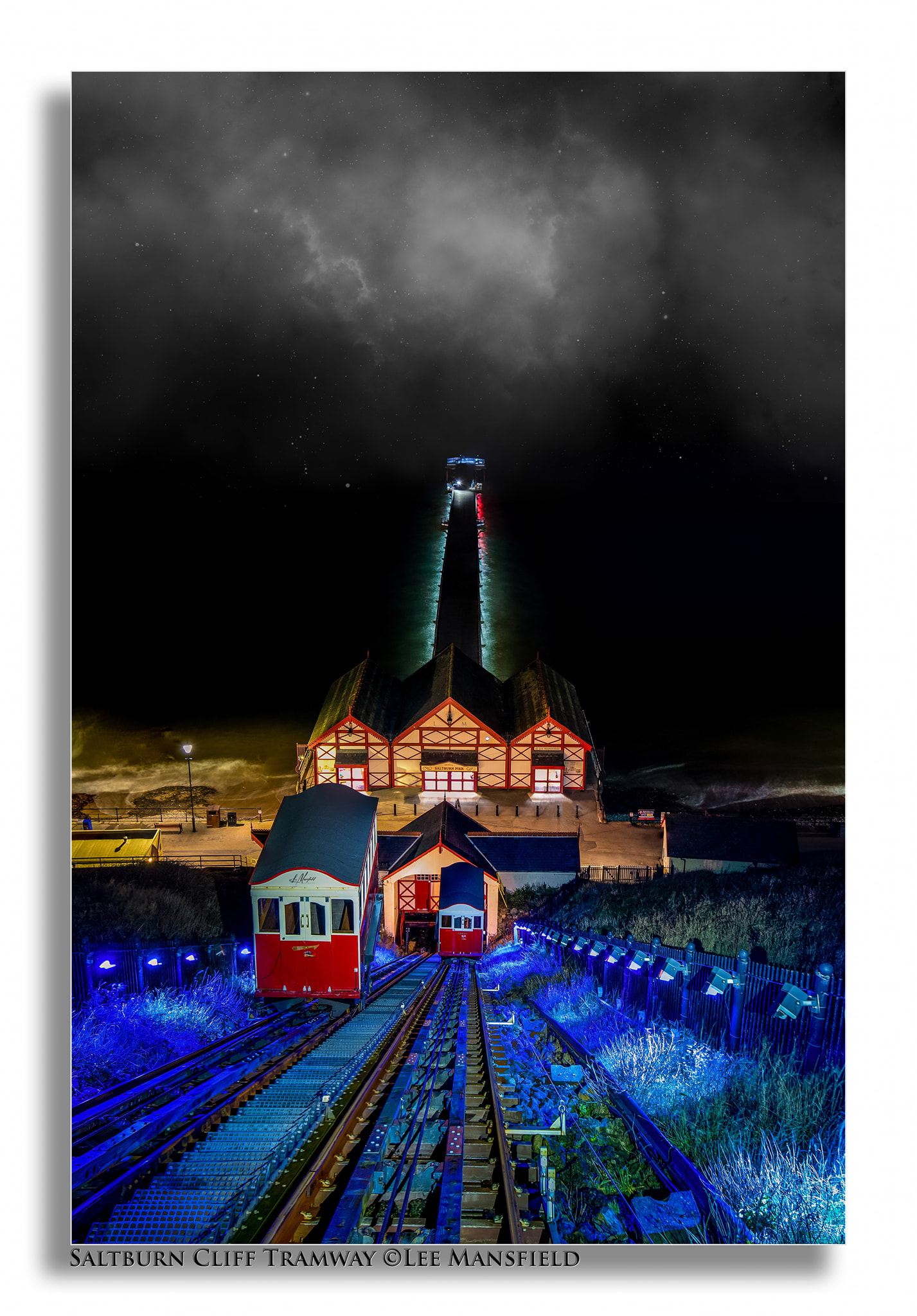 Saltburn Cliff Tramway - Saltburn-by-the-Sea - night long exposure