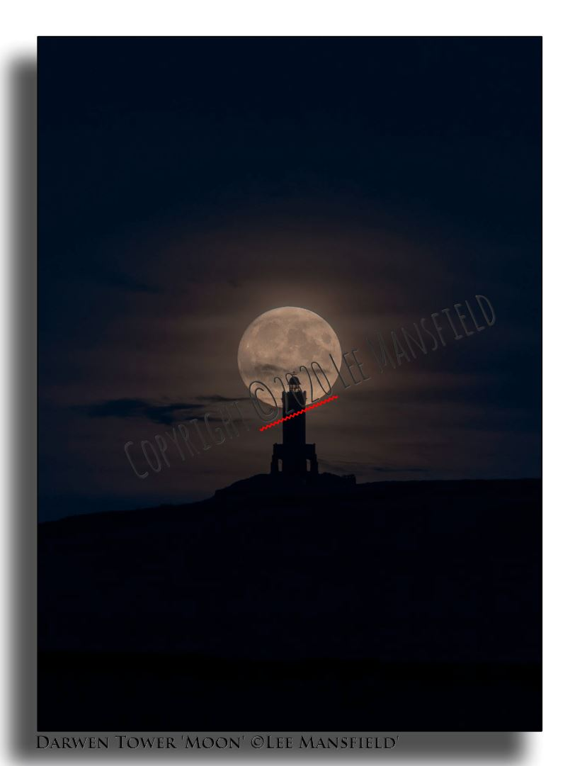 Darwen Tower Moon - night
