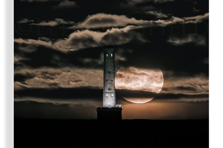 Beaver Moonset Peel Tower