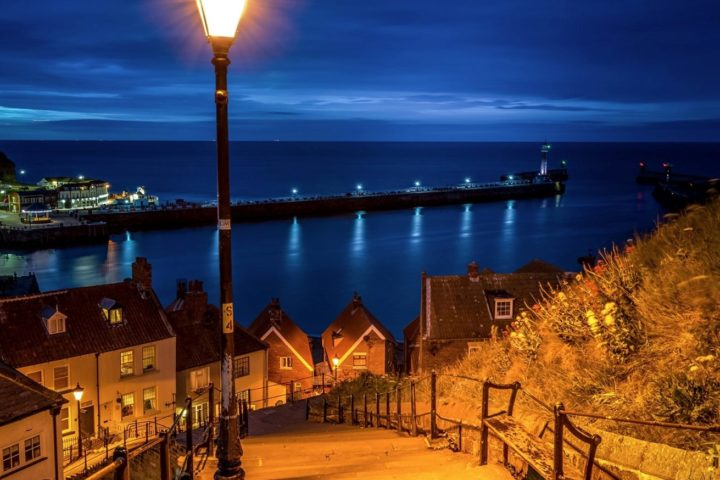 199 Steps - Whitby (blue hour long exposure)