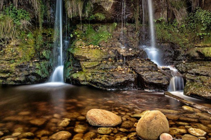 Hayburn Wyke twin Waterfall, Scarborough