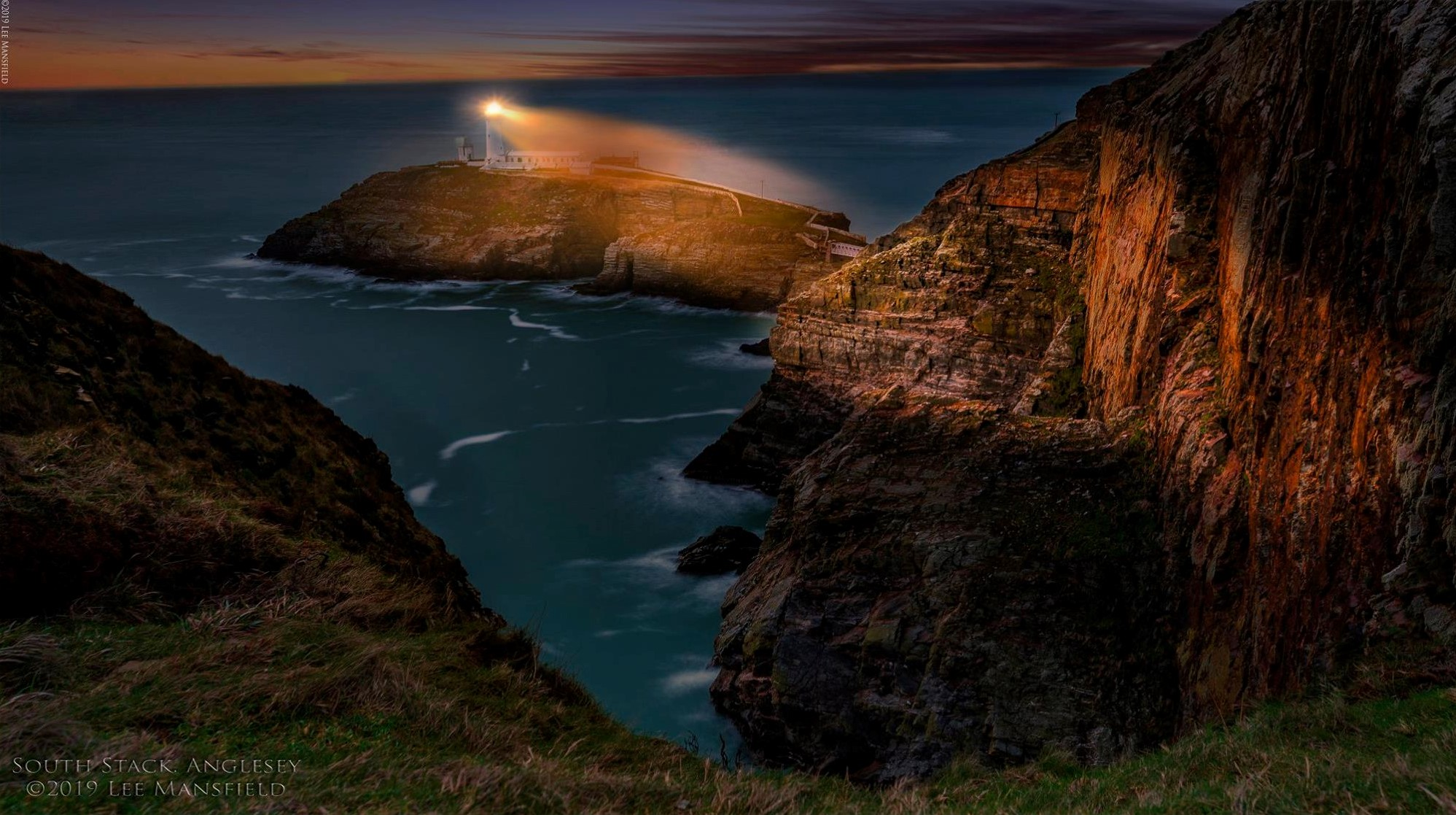 South Stack, Anglesey - blue hour