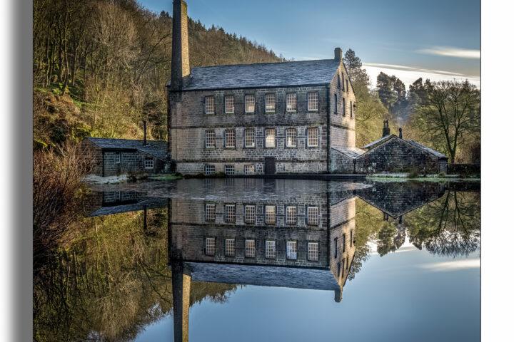 Gibson Mill reflection, Hebden Bridge