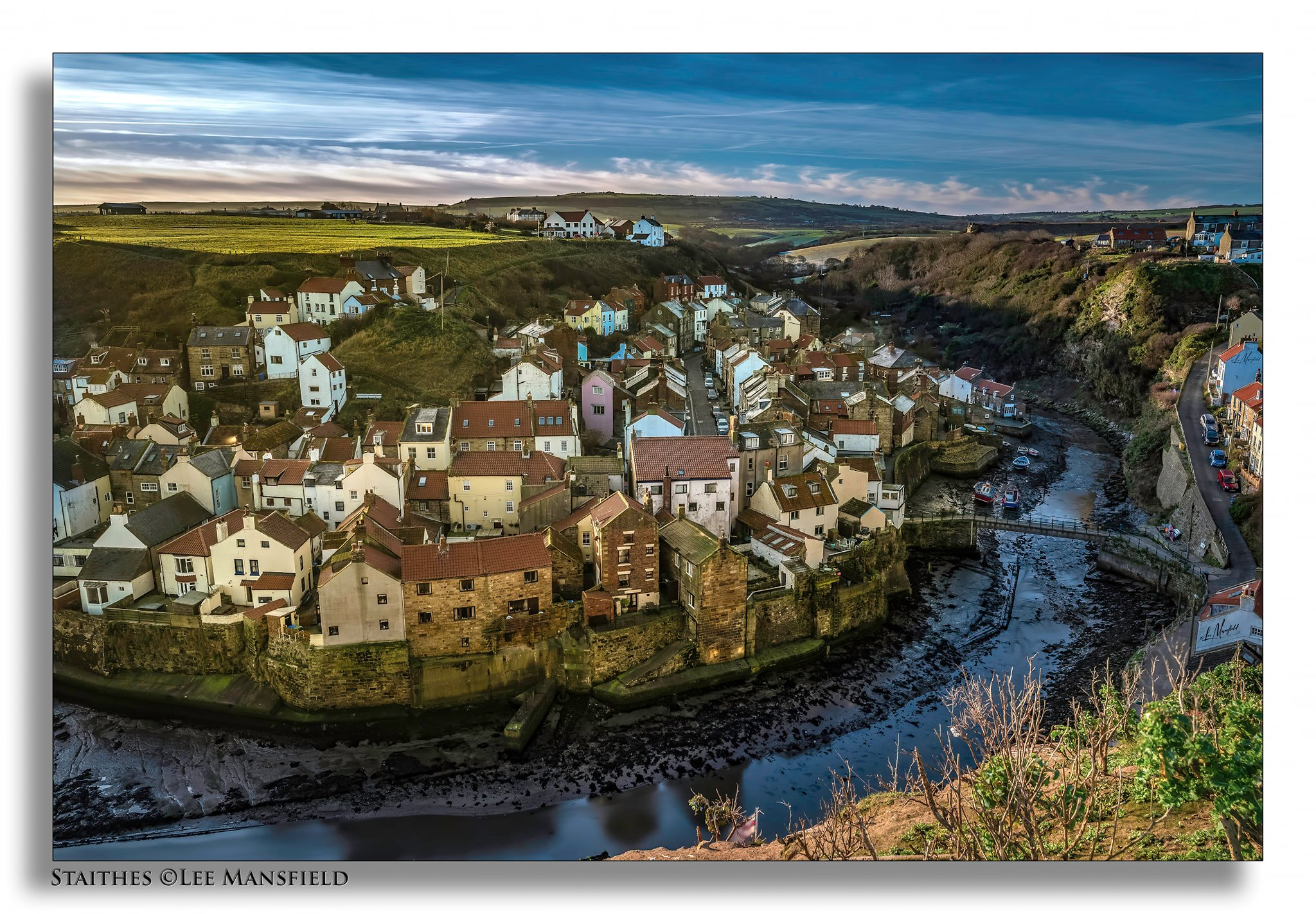 Staithes, viewed from Cowbar Nab