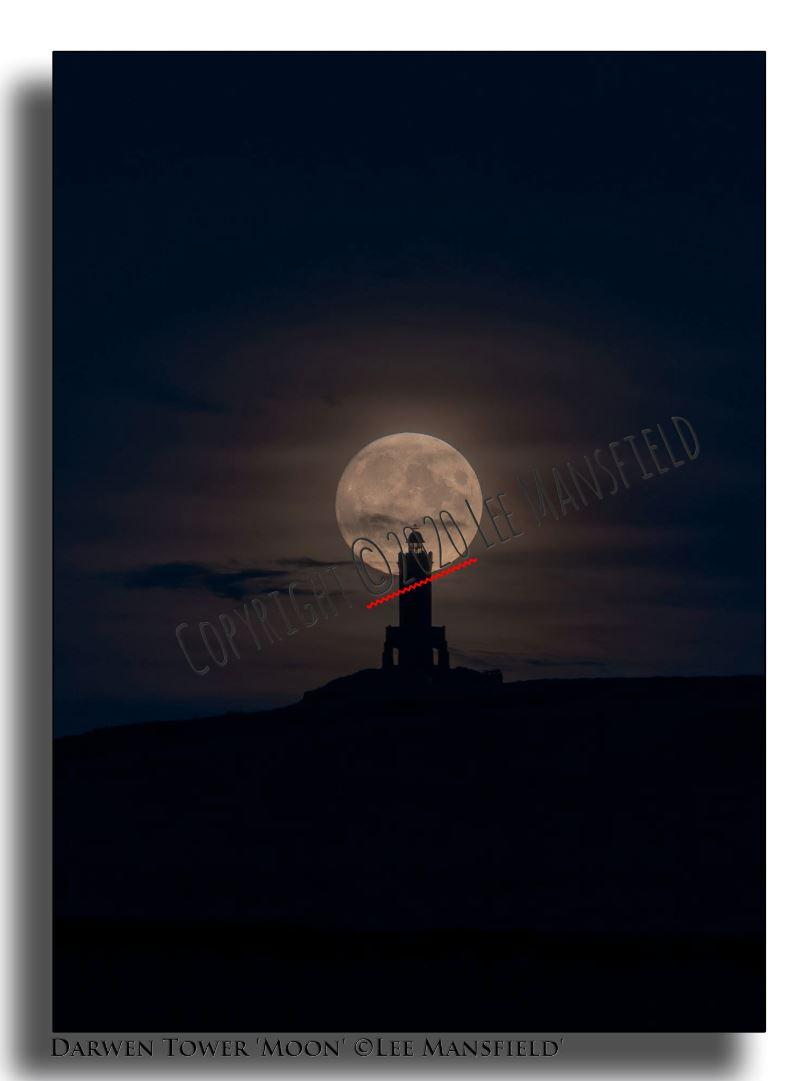 Darwen Tower Moon - night