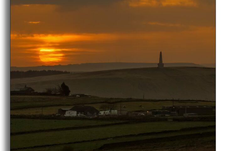 Sunrise over Stoodley pike